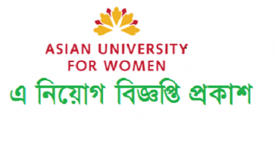 Photo of Asian University for Women (AUW) Job Circular 2019