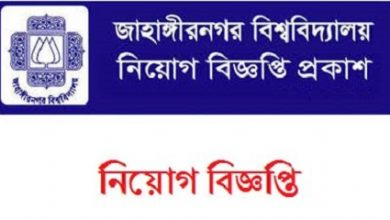 Photo of Jahangirnagar University (JU) Job Circular 2019