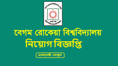 Photo of Begum Rokeya University Job Circular 2019