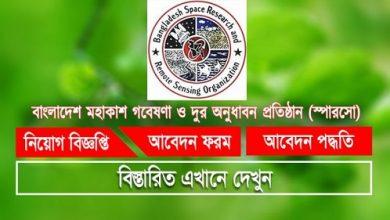 Photo of Bangladesh Space Research and Remote Sensing Organization (SPARRSO) Job Circular 2019